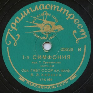 Симфония №1 (дир.Б.Хайкин)