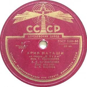 Хренников. Ария Наташи
